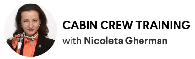Cabin crew training with Nicoleta Gherman